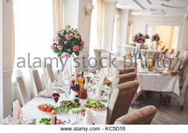 elegant table settings at wedding banquet reception philadelphia