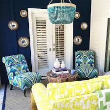 Beaded Turquoise Chandelier Yellow And Turquoise Blue Patio With Ro Sham Beaux Malibu