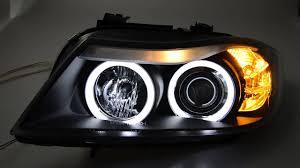 eye bmw headlights sw ccfl eye headlights 3er bmw e90 e91black sw tuning