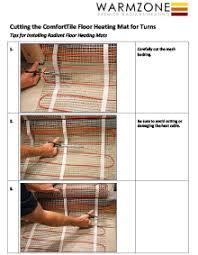 how to turns when installing floor heating mats warmzone