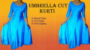 umbrella pattern salwar umbrella cut designer kurti drafting cutting and stitching pragya