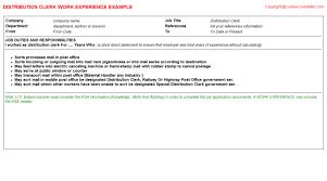 Sample Resume For Material Handler by Flyer Distribution Cv Work Experience Samples