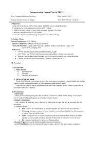 Walmart Resume Final Demo Semi Detailed Lesson Plan In Tle 2 Lan Cabling