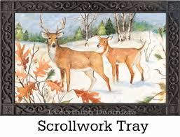outdoor winter deer matmates doormat 18 x 30
