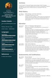 Personal Shopper Resume Sample by Summer Internship Resume Samples Visualcv Resume Samples Database