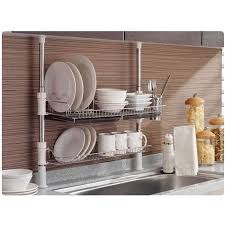 over the sink dish drying rack kitchen drainer for dishes 25 kitchen sink with drying rack new