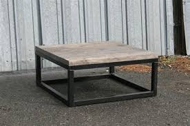 industrial square coffee table 12 small custom butcher block