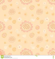 vector lovely feminine floral background pattern in peach color