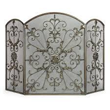 filament design lenor 34 in bronze wrought iron fireplace screen