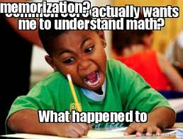 meme creator common core actually wants me to understand math