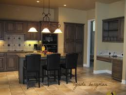 gray brown stained kitchen cabinets lynda bergman decorative artisan painting s