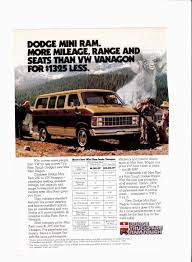 1982 dodge mini ram van ad national geographic december 1981