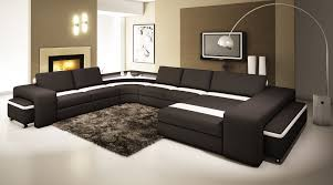 Modern Black Leather Sofas Nice White Curtains Leather Sofa Sleepers That Can Be Applied