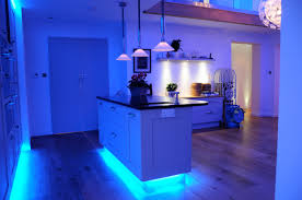 Kitchen Lighting Under Cabinet Led Kitchen Lighting Blue Led Strip Lights Over Countertop And Under