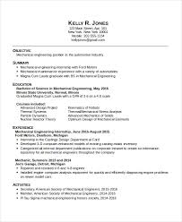 Automobile Service Engineer Resume Sample by Mechanical Engineering Resume Template 5 Free Word Pdf
