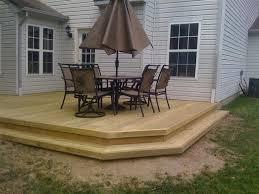 Wood Patio Deck Designs Wood Patio Deck American Gardener