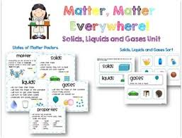 unit solids liquids and gases experiments lessons and printables