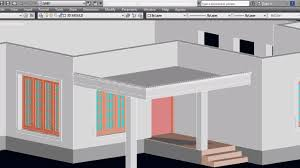 car porch autocad 3d house part5 car porch autocad porch 3d car porch