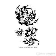 tattoo decal paper buy waterproof tattoo stickers paper black tiger horse skull pattern