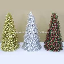 promotional cutting tinsel cone tree cutting