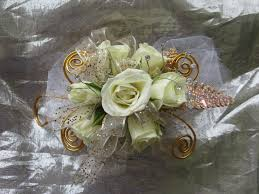corsage flowers white and gold prom corsage for prom flowers in pasadena tx