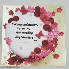 congratulations on your wedding on your wedding cakes with name