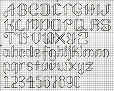 free cross stitch and back stitch alphabets lower case letters