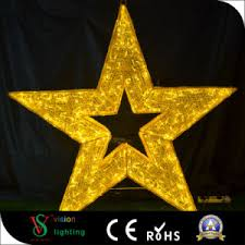 china led outdoor decorative christmas 3d star motif lights