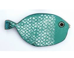 painted wooden fish wall decor wall 도마