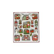 Christmas Window Decorations Homebase by Traditional Wooden Christmas Tree Decorations 22 Pack At Homebase