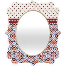 belle13 deco design quatrefoil mirror deny designs home accessories