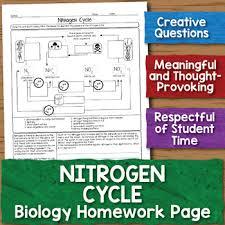 free nitrogen cycle biology homework worksheet by science with mrs lau