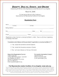 Vendor Information Sheet Template Registration Form Template 55875798 Png Sponsorship Letter