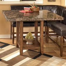 Dining Room Counter Height Tables Signature Design By Ashley Lacey Faux Marble Square Counter Height
