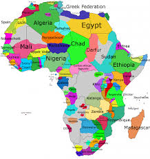 Labeled Africa Map by As Groups International Angelman Day