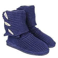 womens knit boots bearpaw knit navy mid calf fold boots shiekh shoes