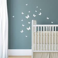 Butterfly Wall Decals For Nursery creative idea beautiful nursery with white modern baby crib also