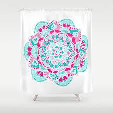 Pink Flower Shower Curtain Shop Pink Shower Curtain On Wanelo