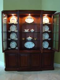 Curio Cabinets On Kijiji Antique White China Cabinet With Curved Glass Http Www