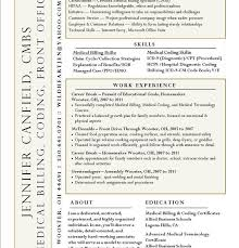 Medical Billing And Coding Resume Sample by Medical Billing Resume Sample Enwurf Csat Co