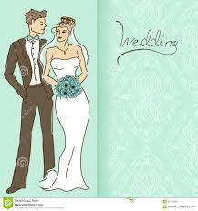 wedding invitation background free download wedding invitation or card with couple stock photo image 32772900