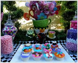 alice in wonderland table decor decorating of party