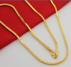long yellow gold necklace images 3mm box chain men 39 s long necklace dahasakshops jpg