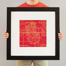 Iowa State Campus Map Iowa State University Campus Map Art City Prints
