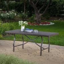 Patio Furniture Costa Mesa safavieh outdoor living dilettie grey rectangle folding dining
