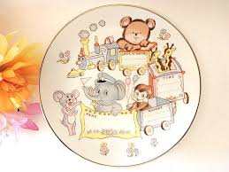 baby birth plates personalized baby birth plate personalized name date weight circus