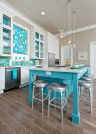 turquoise kitchen island modern turquoise kitchen with blue modern kitchen island also