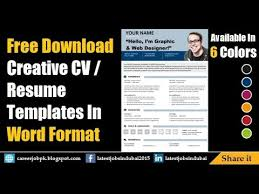 free download editable resume cv template in ms word format youtube