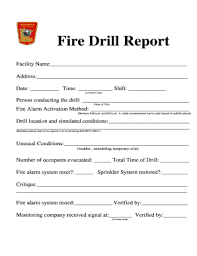 emergency drill report template drill report template fill printable fillable