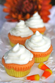 usher in halloween fun with colorful candy corn inspired cupcakes